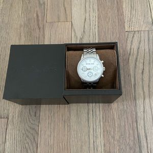 Michael Kors womens silver iridescent watch w box
